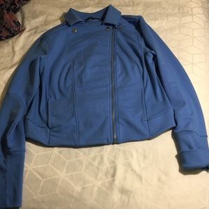 H by HALSTON BLUE 8 zipper turn up cuffs 2 pockets